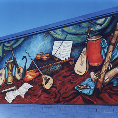 World Instrument mural, Marrickville NSW,1996