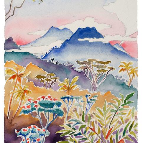 18. Gunung Andong Morning, 28x19cm