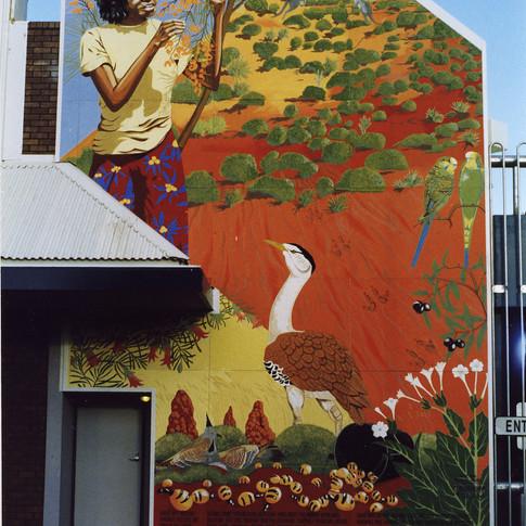 Bush Tucker, Yeperenye Centre, Alice Springs, 1987. Restored 2001