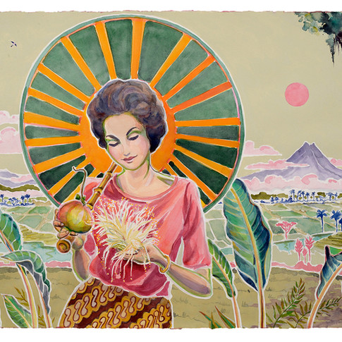 1. Jan with Pomegranite and Guava Flower, 56x76cm
