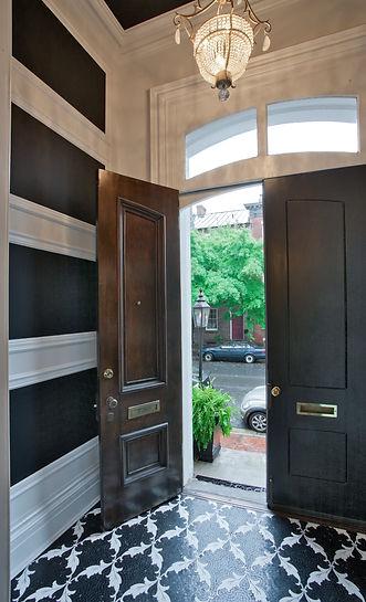 Open door into foyer