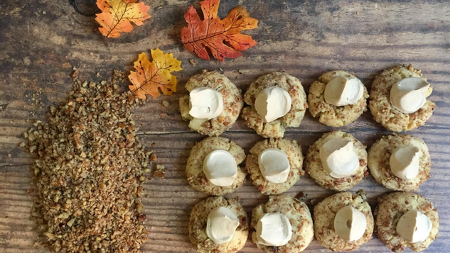 Maple Pecan Thumbprints