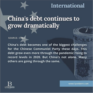 Rise in China's debt