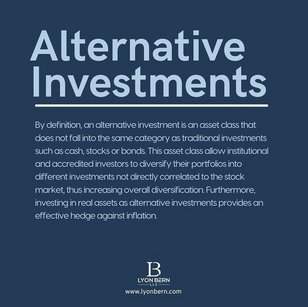 What is Alternative Investment?