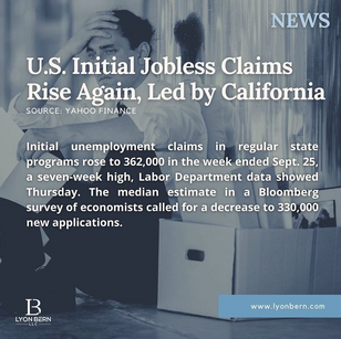 U.S. Initial Jobless Claims Rise Again