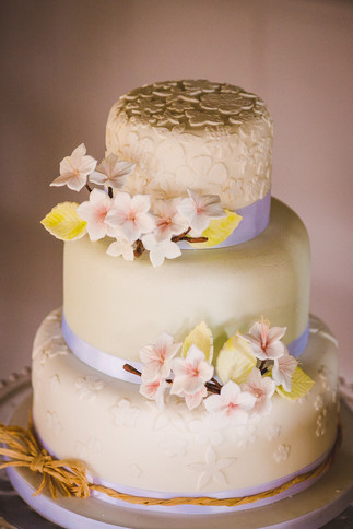 Blossom 3 tier wedding cake