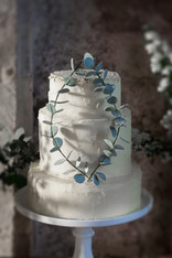 3 Tier Buttercream Eucalyptus
