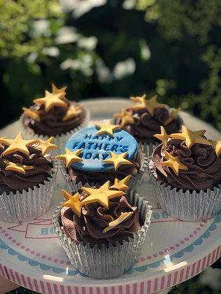 Fathers Day Star Cupcakes