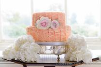 Two tier ruffle cake