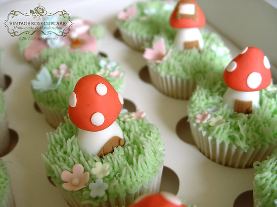 6 Enchanted Toadstools & Flowers