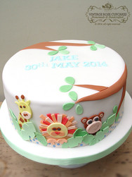 Jungle birthday cake