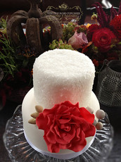 Two tier crystal cake