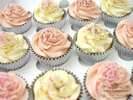 6 Plain & Simple Sprinkle's Cupcakes