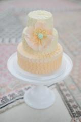 Three tier ruffle cake