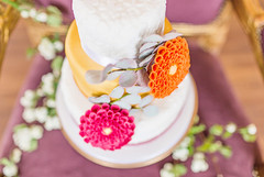Three tier Autumn wedding cake