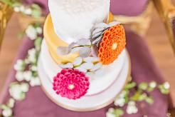 Three tier Autumn wedding cake