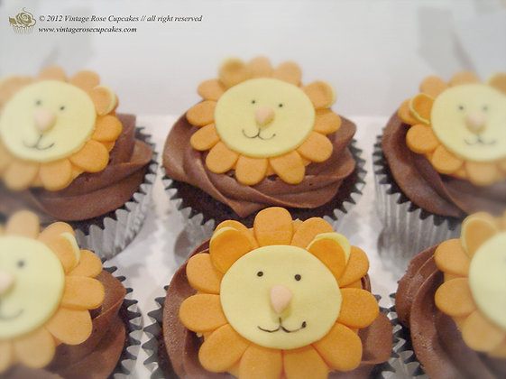 6 Lion Cupcakes