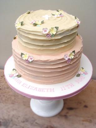 Two tier buttercream
