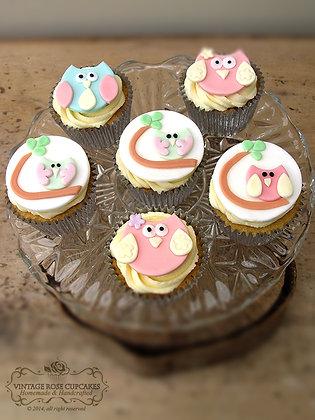 6 Owl Cupcakes