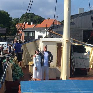 Jan and Yanina on Deck