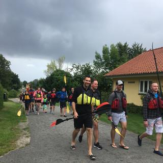 Everyone ready to Kayak