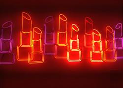 Lipstick Shaped Neon Lights