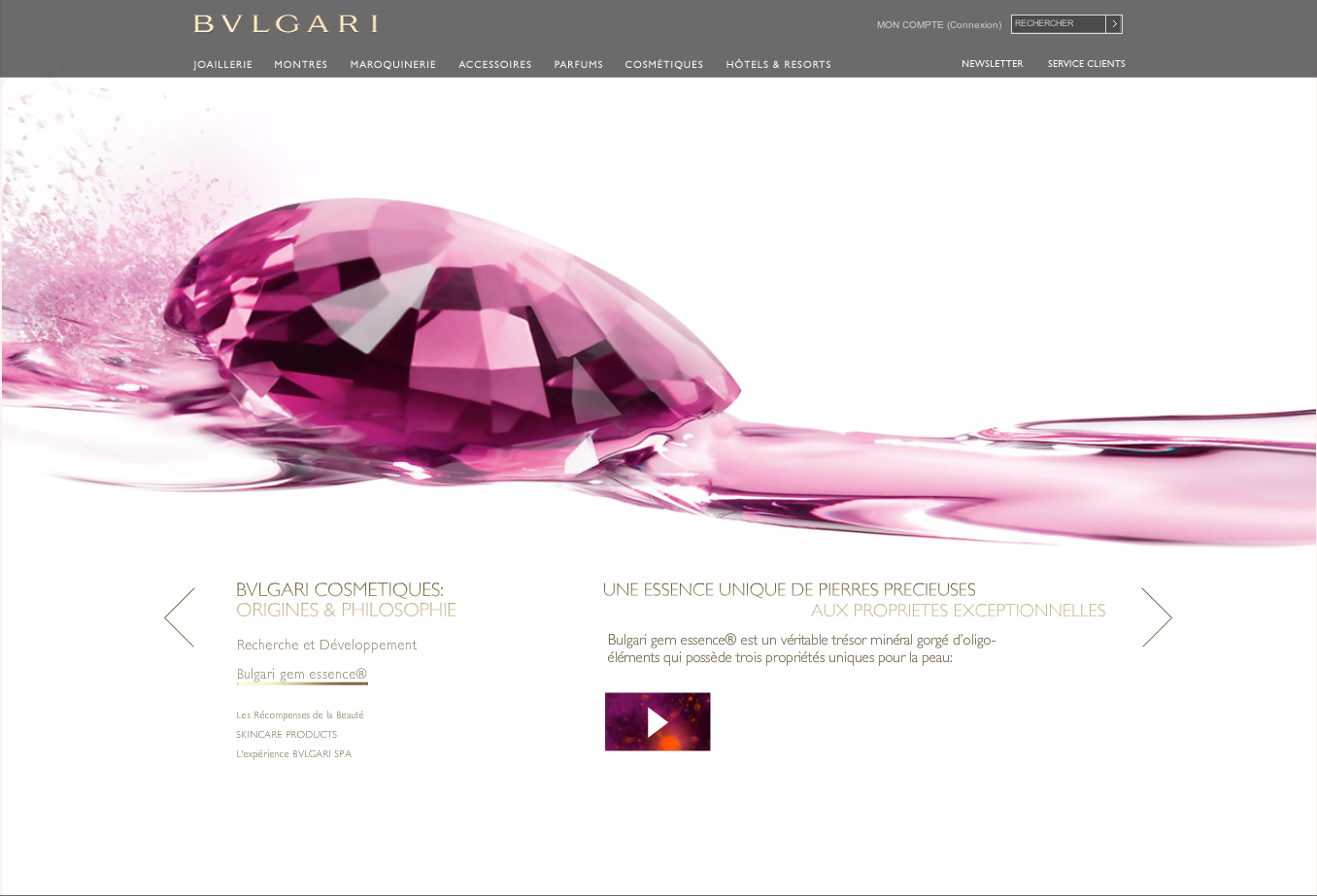 Bulgari Ligne Precieuse website