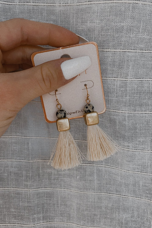 Tassel Charm Hook Drop Earring
