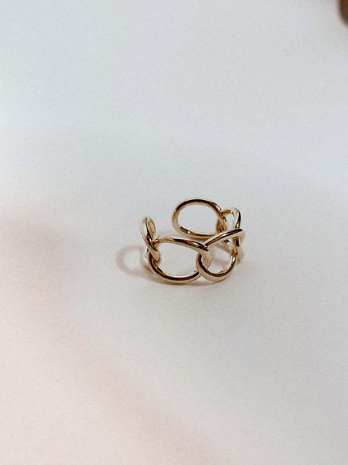 Dainty Chain Link Open Band Ring