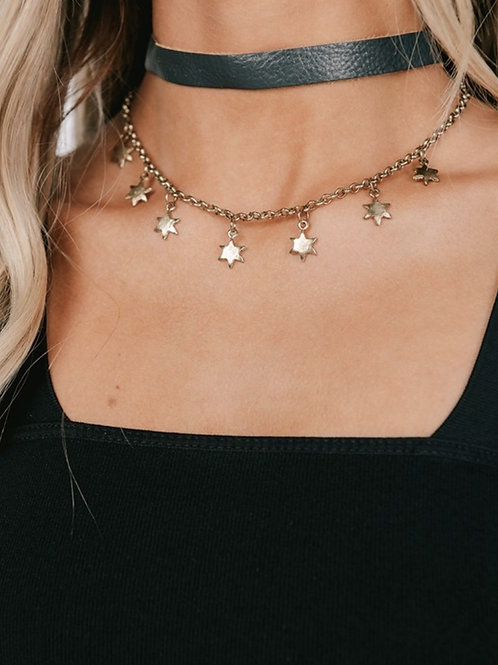 Choker + Star Chain Necklace