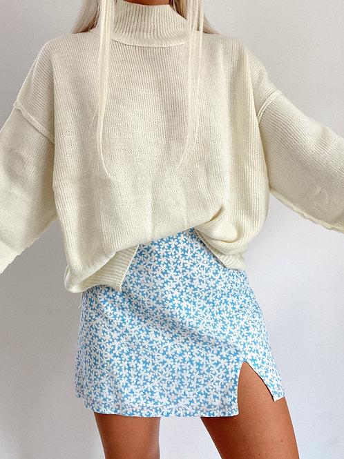 Luxy Mock Neck Slouchy Sweater