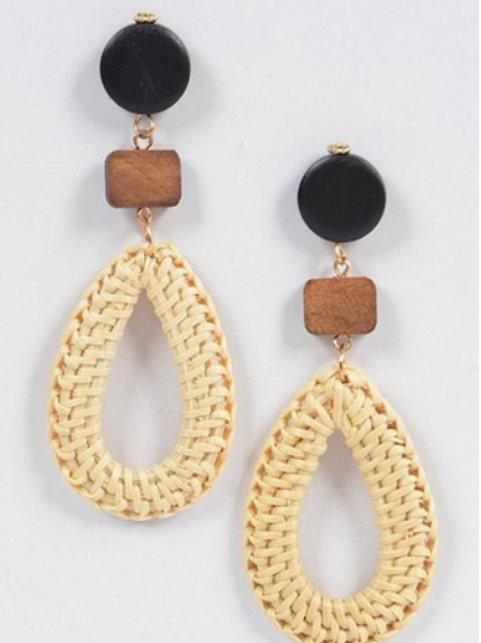 Bamboo Wooden Earring