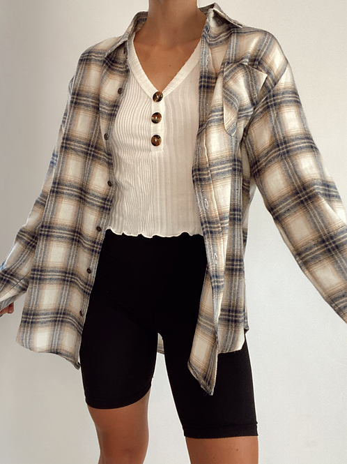 Hunter Relaxed Boyfriend Button Down Shirt
