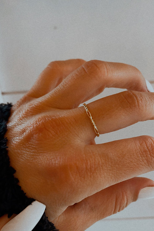 Twisted Metallic Dainty Band Ring