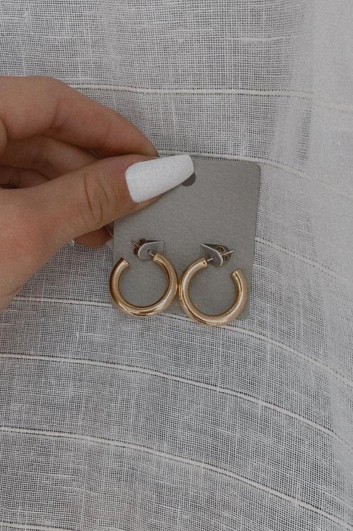 Simplistic Round Hoop Earring