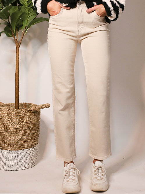 A Stroll in the Harbor High Waist Cropped Pant