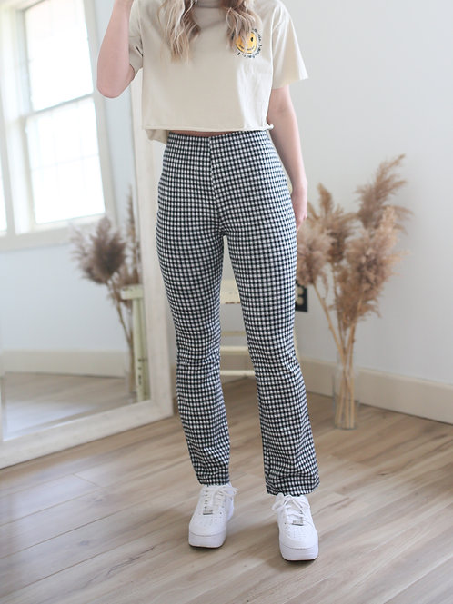 Sandy at the Diner High Waist Gingham Pant