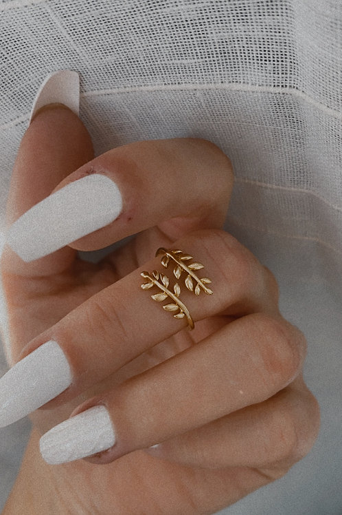 Angel's Leaf Adjustable Ring