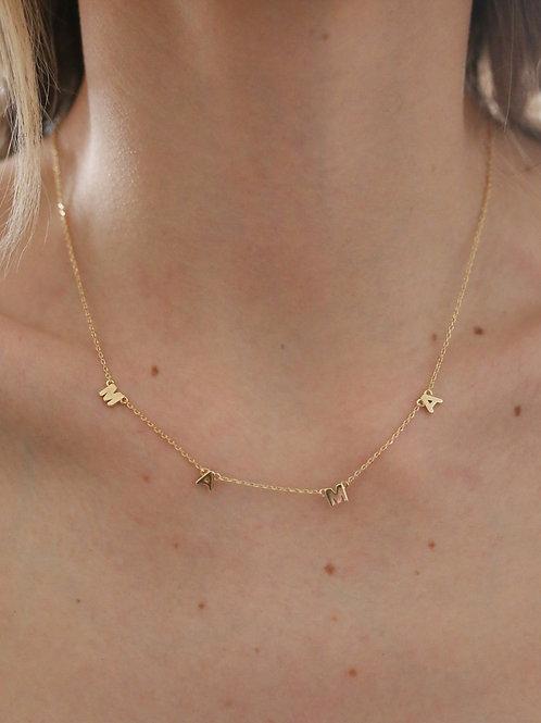 Dainty Mama Print Charm Necklace