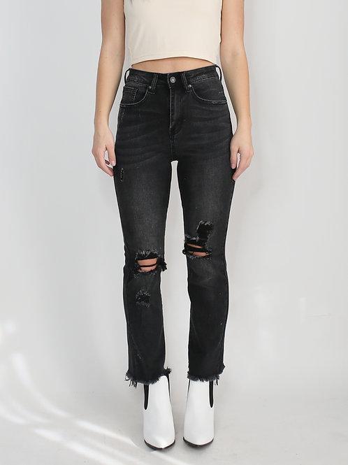 Roxxie High Waist Ankle Straight Leg Jean