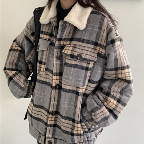 Ultra Comfy Plaid Wool Coat