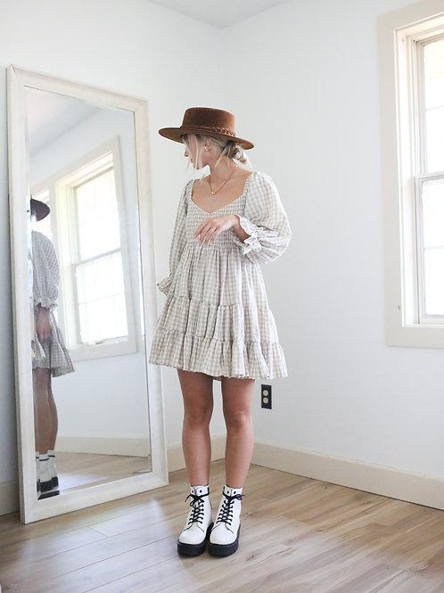 Mabel Gingham Ruffle Mini Dress