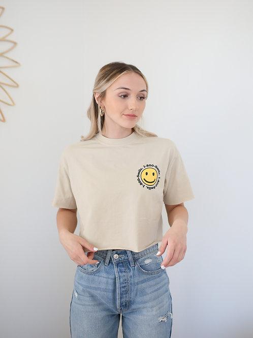 Smile Crop Crew Tee