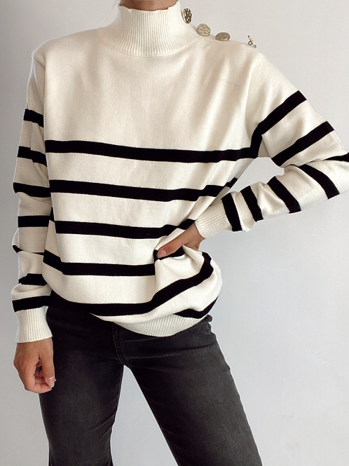 Let's Visit Tortuga Falls Knit Sweater