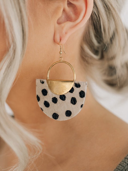 Textured Spotted Drop Earring