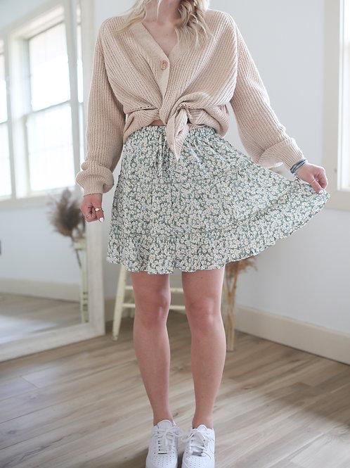 Eleanor Rose Floral Skirt