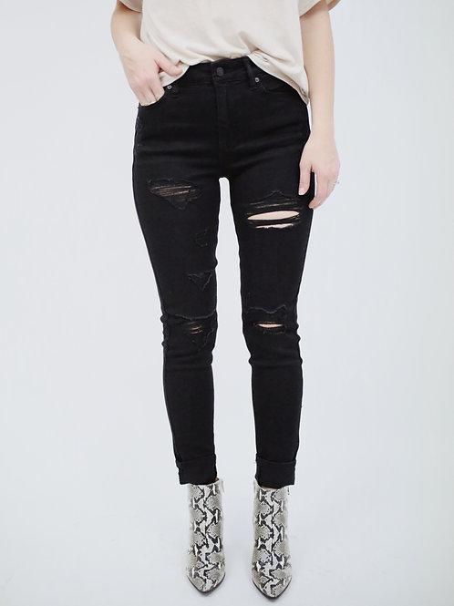 KanCan Distressed High Rise Super Skinny Jean