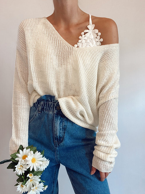 Love is Friendship V Neck Sweater
