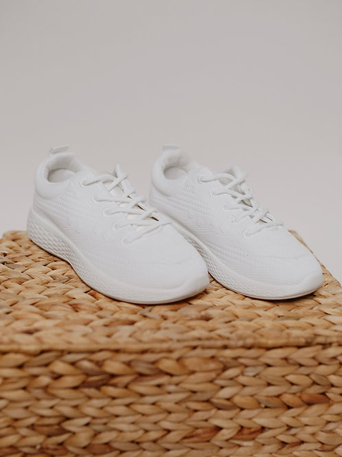 Qupid Pamier Flyknit Lace Up Sneaker