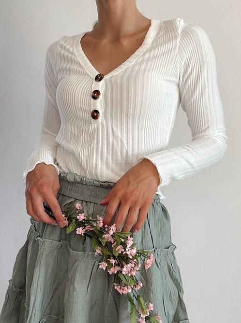 Basic Cropped Long Sleeve Top